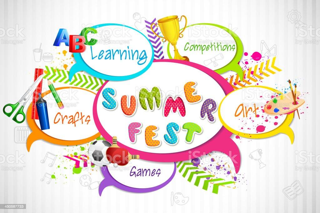 Summer Fest vector art illustration