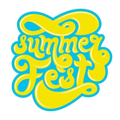 Summer festival logo.