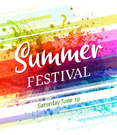 summer festival poster invitation
