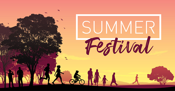 summer festival vector illustration