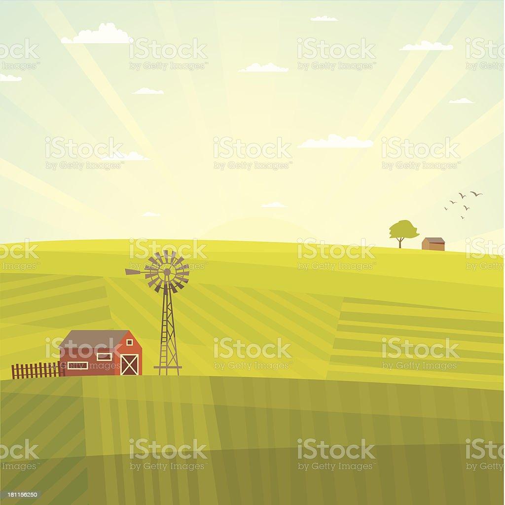 Sommer Feld Landschaft – Vektorgrafik