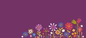 Summer Floral Background. Vector illustration.
