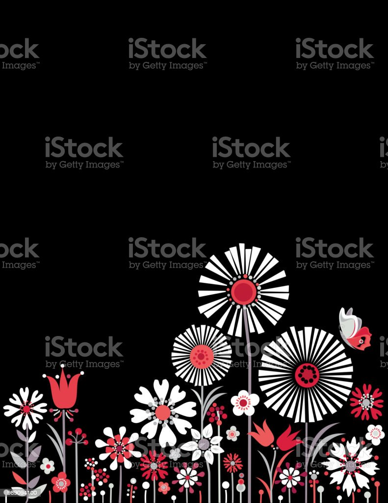 Summer Floral Background vector art illustration