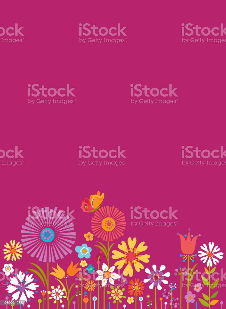 Summer Floral Background royalty-free summer floral background stock vector art & more images of abstract