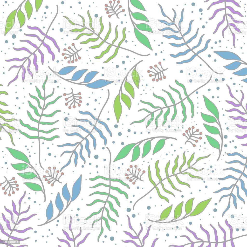 Summer Floral Pattern Summer Floral Background Stock Illustration