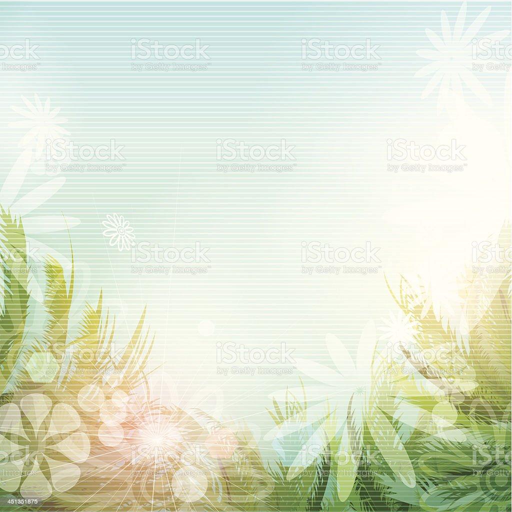 Summer flower background royalty-free stock vector art