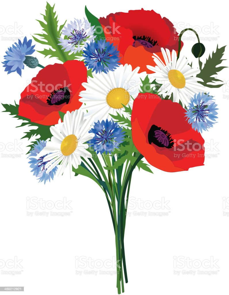 Summer Flower Bouquet Stock Vector Art More Images Of Adulation