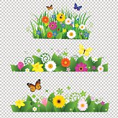 Summer Flowers Bouquet. Vector Illustration EPS10. Contains transparency.