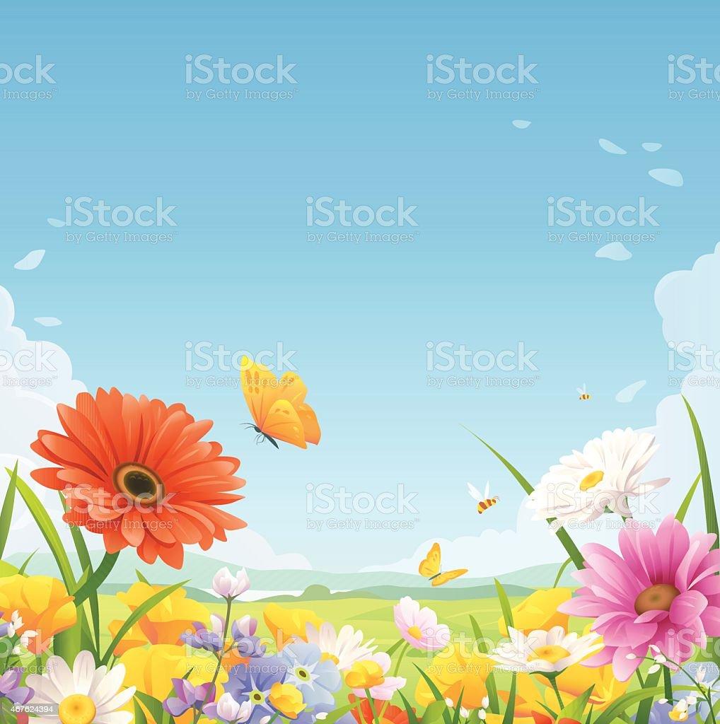 Sommer Blumen – Vektorgrafik