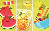Bright, cheery, enchanting banners for summer.