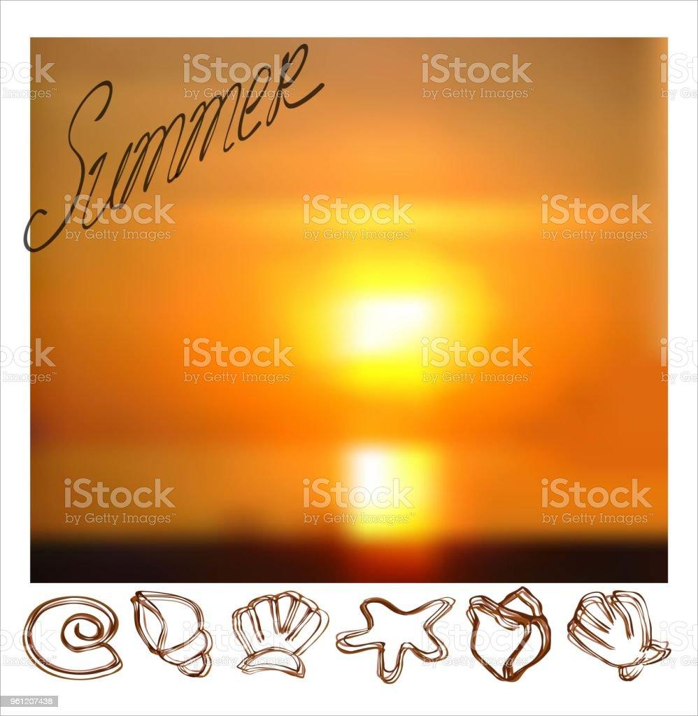 summer foto vector art illustration