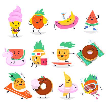 Summer fun characters