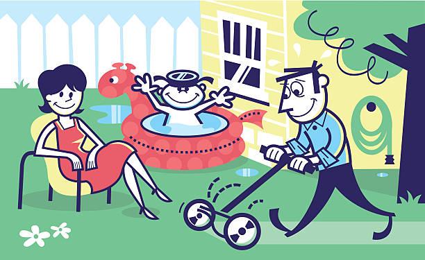 summer fun! - peter bajohr stock illustrations
