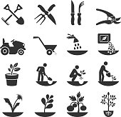 Summer Gardening and Farming Crops with Equipment