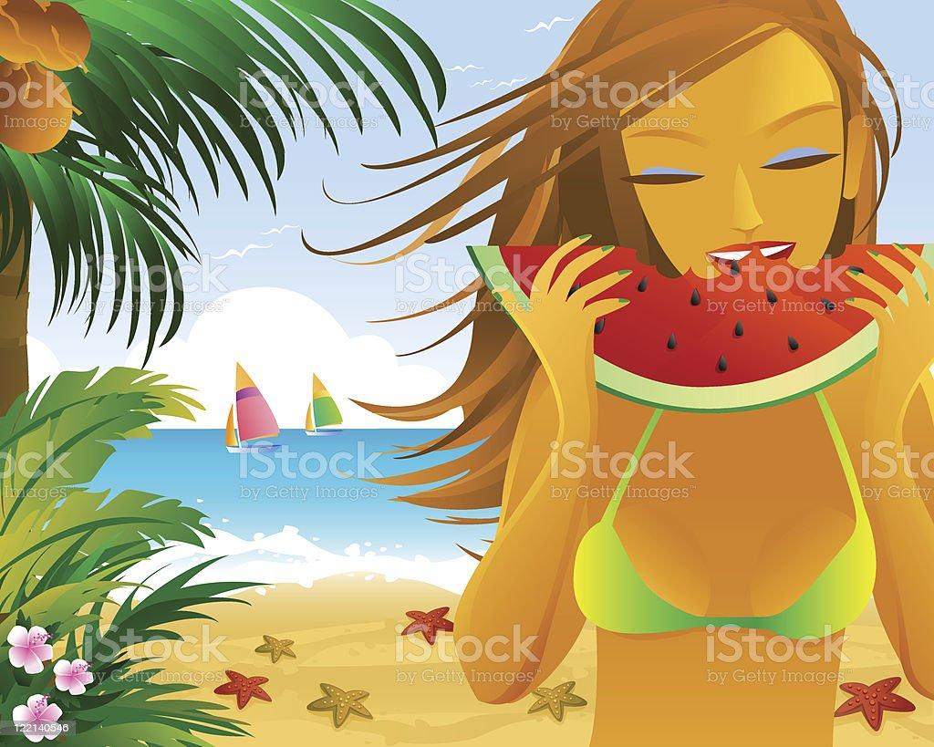 summer girl royalty-free stock vector art