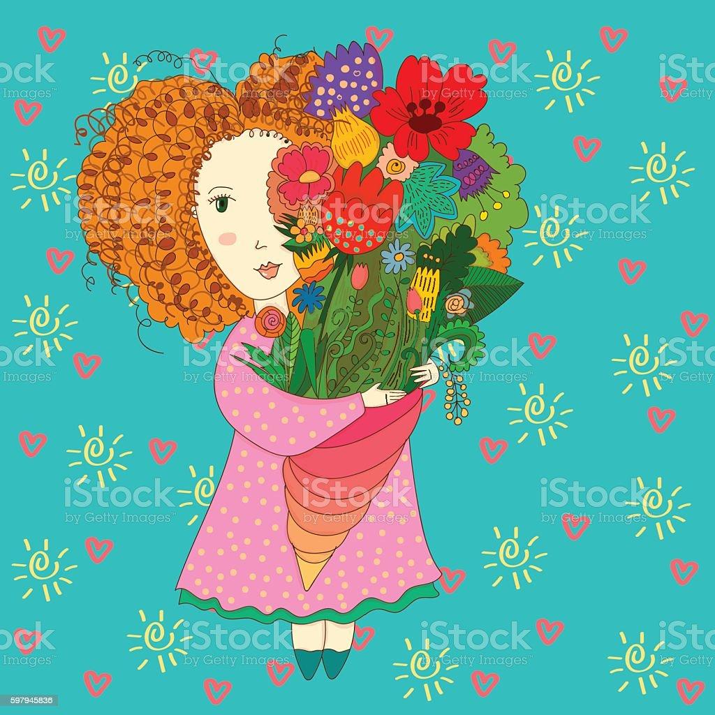Garota de verão  ilustração de garota de verão e mais banco de imagens de arte, cultura e espetáculo royalty-free