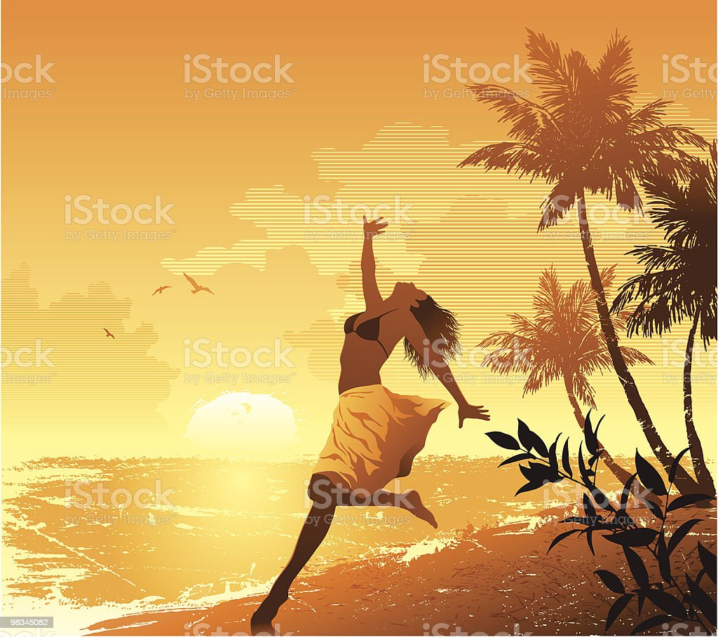 Summer Girl royalty-free summer girl stock vector art & more images of adult