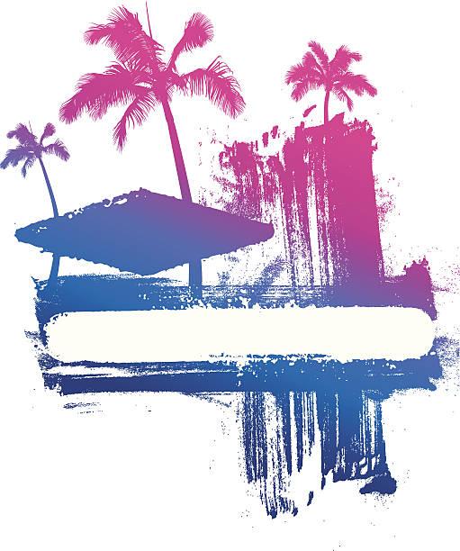ilustrações de stock, clip art, desenhos animados e ícones de tinta fundo gradiente de verão - ibiza