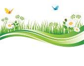 Vector illustration of Summer grass