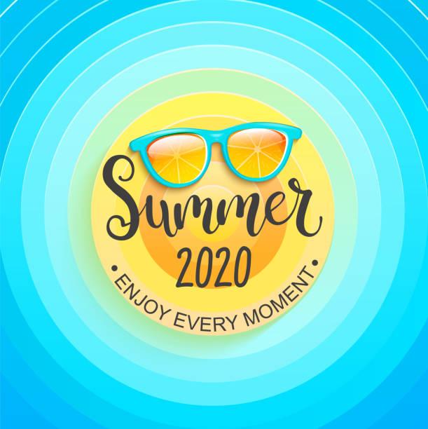 2020 년 여름 인사말 배너. - summer stock illustrations