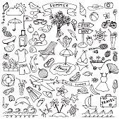 Summer hand drawn set