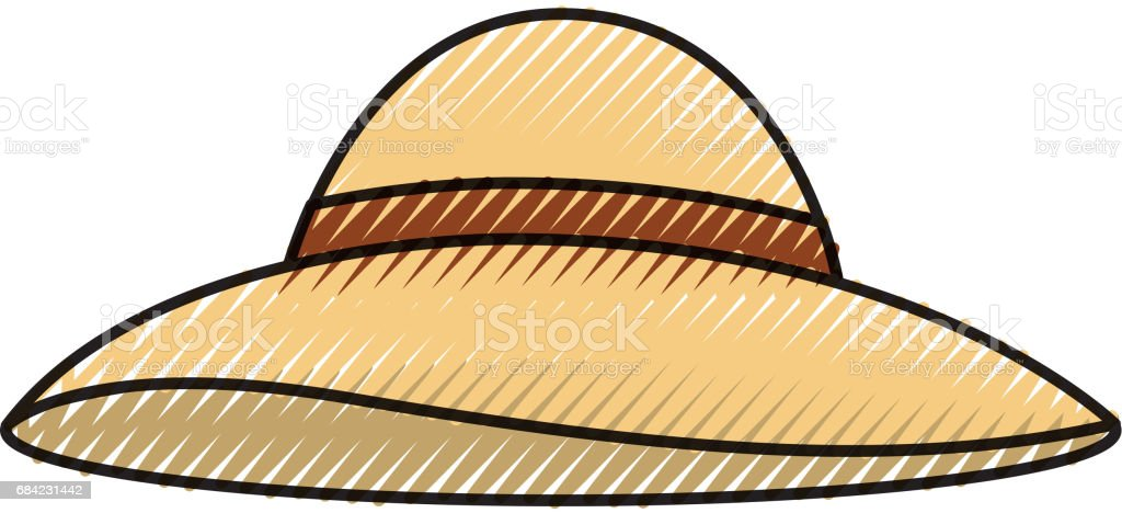 summer hat isolated icon royalty-free summer hat isolated icon stock vector art & more images of arts culture and entertainment