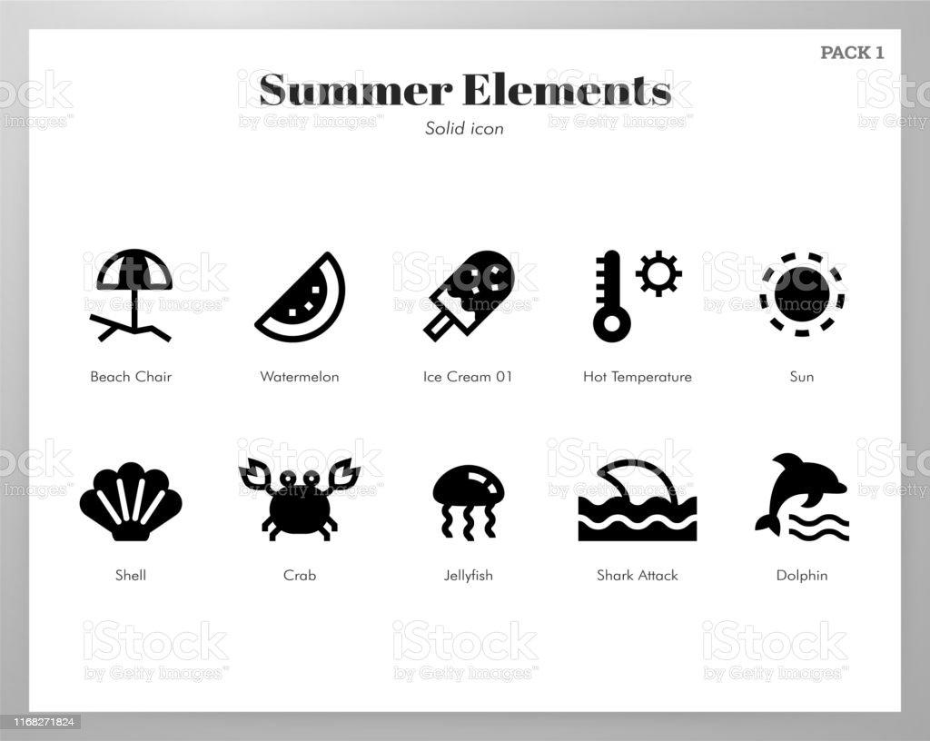 Summer holiday vector illustration in solid color design