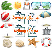 drawn of vector summer holiday symbols. This file of transparent and created by illustrator CS6.
