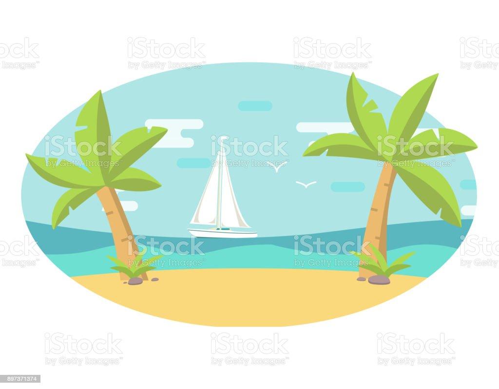royalty free palm beach resort clip art vector images rh istockphoto com seashore clip art free seashell clipart art
