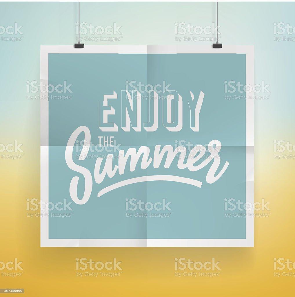 Summer holiday poster design vector art illustration