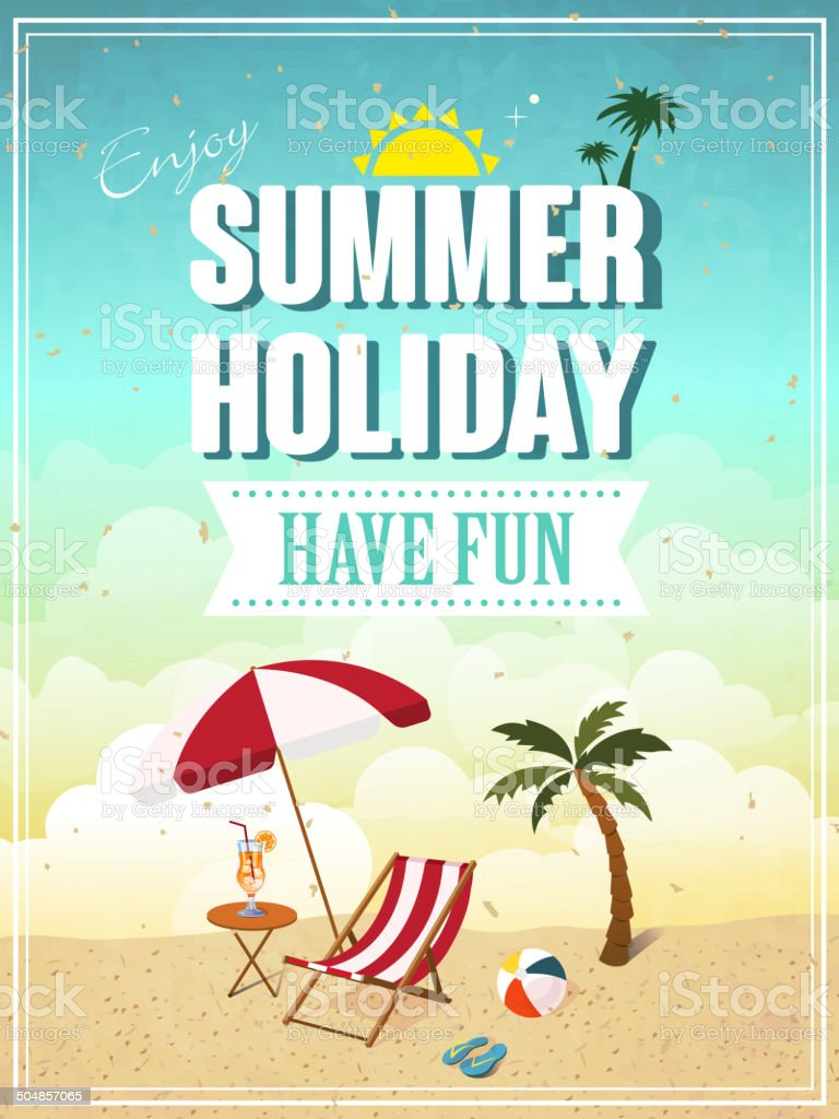 summer holiday poster royalty-free stock vector art