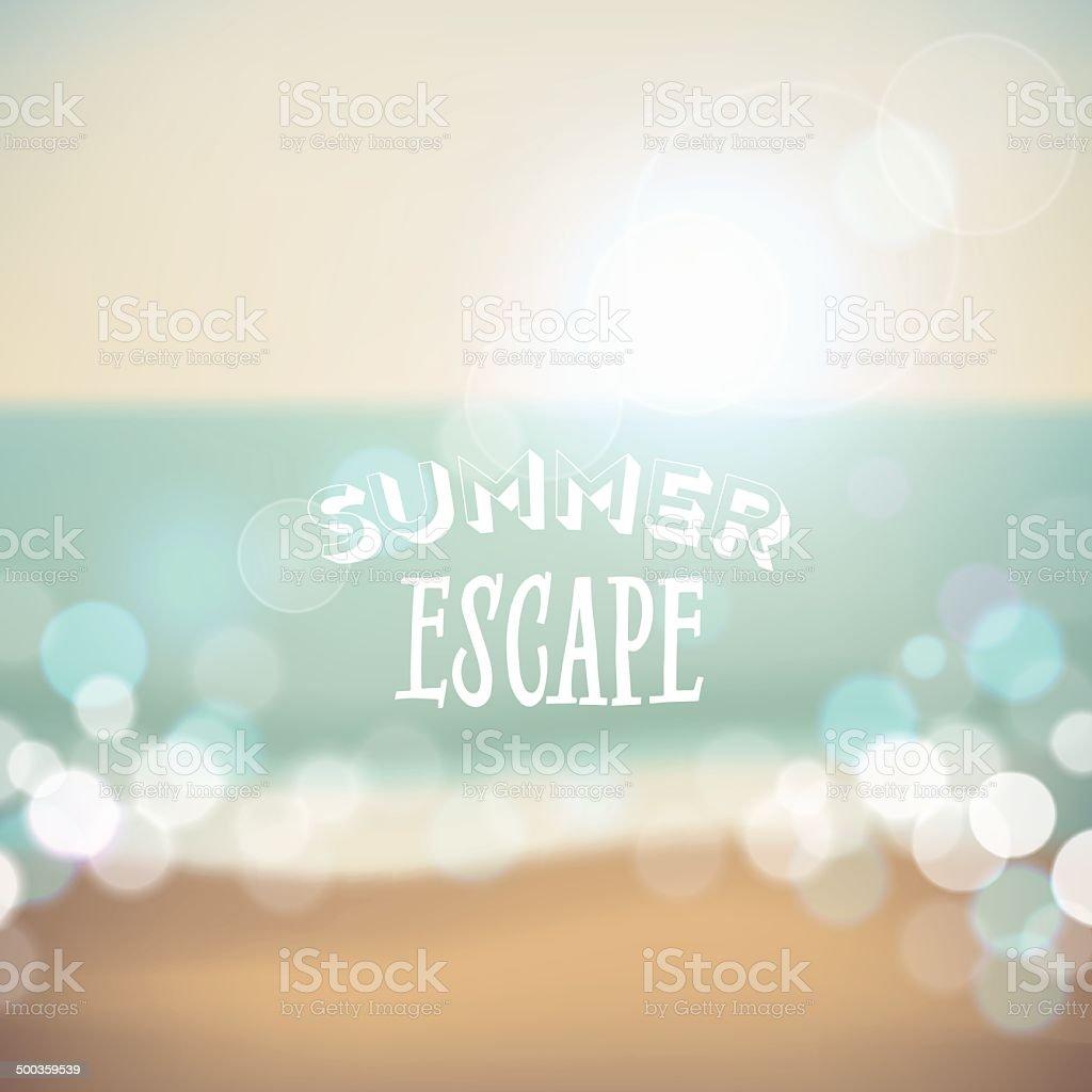 Summer holiday tropical beach background vector art illustration
