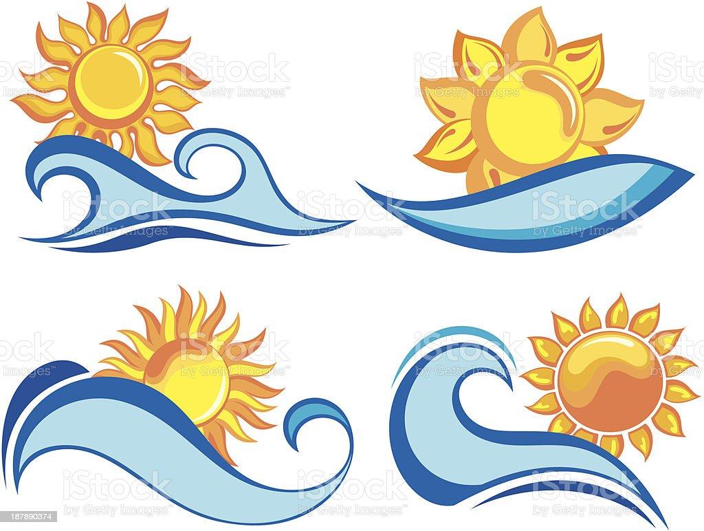 Summer holiday royalty-free stock vector art