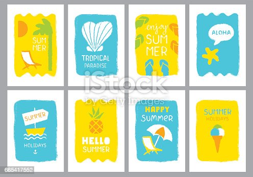 Summer holidays banners