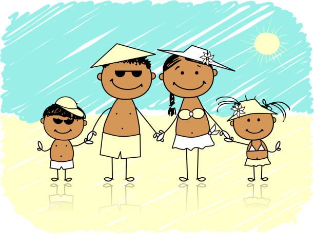 Best Cartoon Of The Girl Walking On The Beach ...