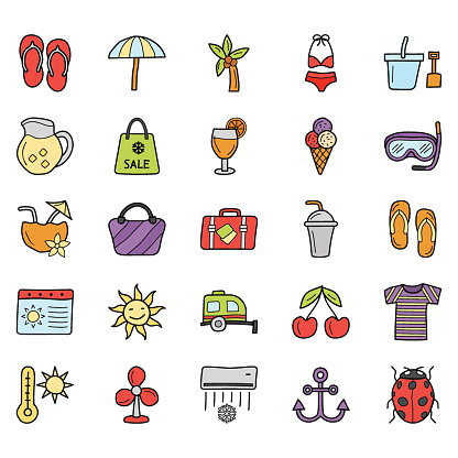 Summer Holidays Icons Pack