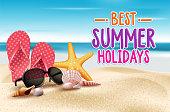 Summer holidays on the seashore advertisement