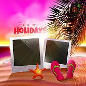Summer holidays poster