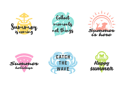 Summer holidays typography inspirational quotes or sayings design