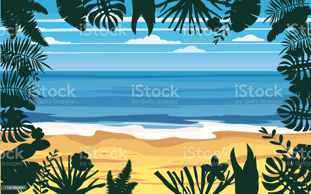 Summer Holidays Vacation Seascape Landscape Ocean Sea Beach Coast Palm Leaves Tropical Leaves Palm Trees Template Vector Banner Poster Illustration Isolated Stock Illustration Download Image Now Istock Polish your personal project or design with these tropical leaves transparent png images, make it even more personalized and more attractive. https www istockphoto com vector summer holidays vacation seascape landscape ocean sea beach coast palm leaves gm1152560864 312732493