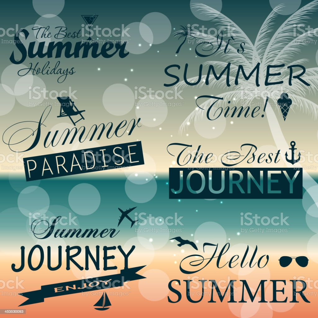 Summer holidays vector background. royalty-free stock vector art