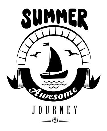Summer Holidays Vintage Poster, Label