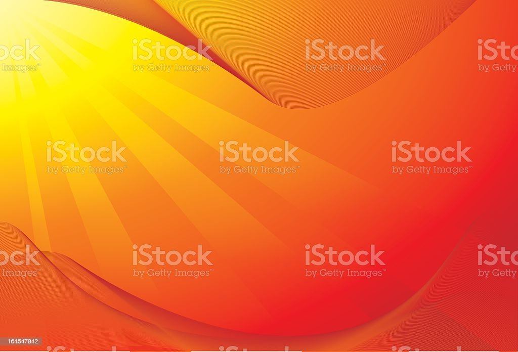 summer hot red background royalty-free stock vector art
