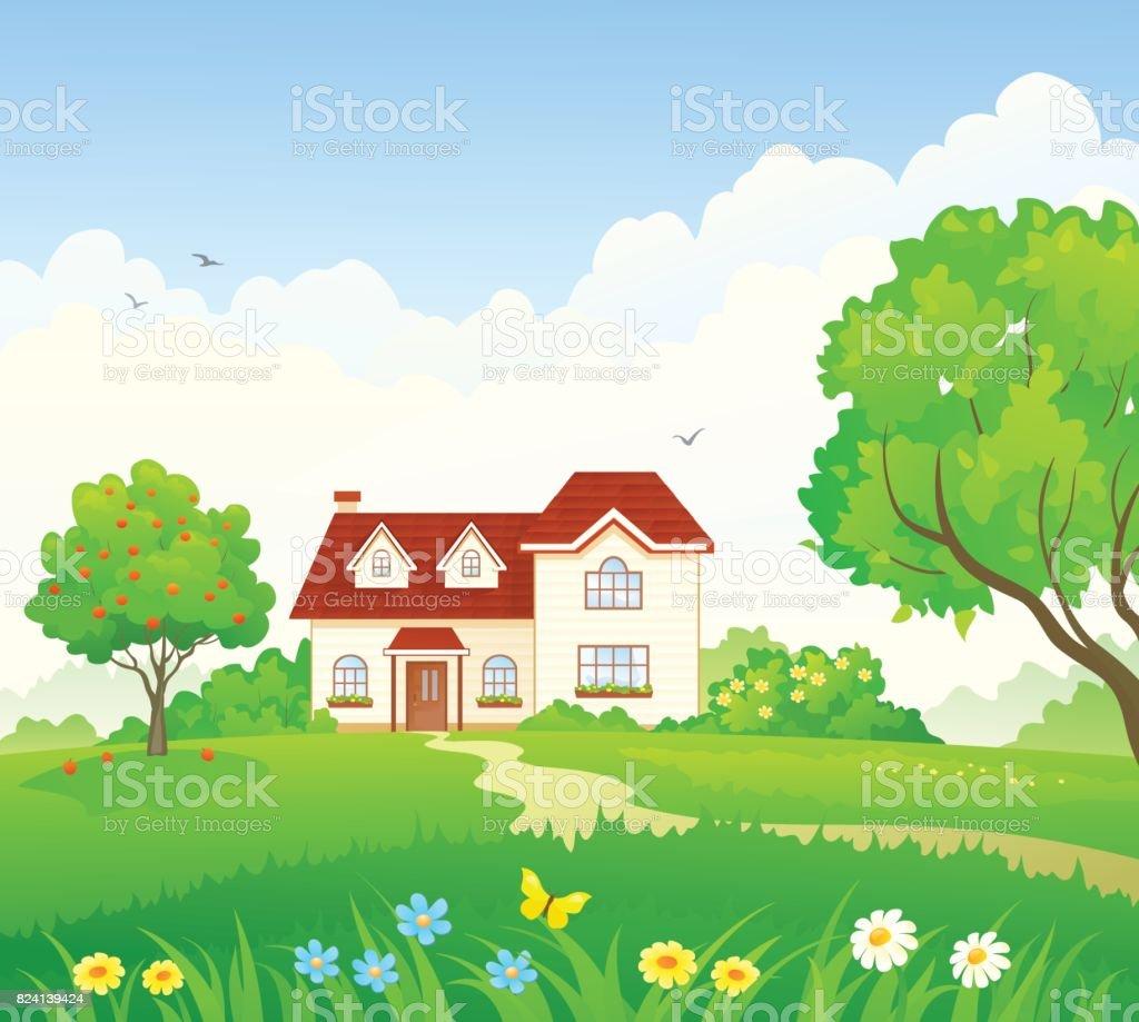 royalty free garden path clip art vector images