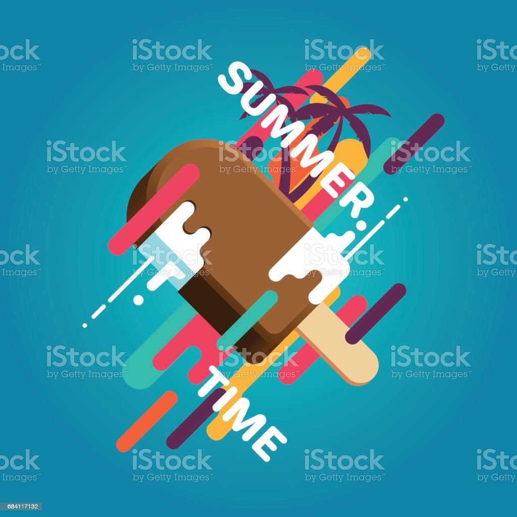 Zomer ijs poster royalty free zomer ijs poster stockvectorkunst en meer beelden van abstract