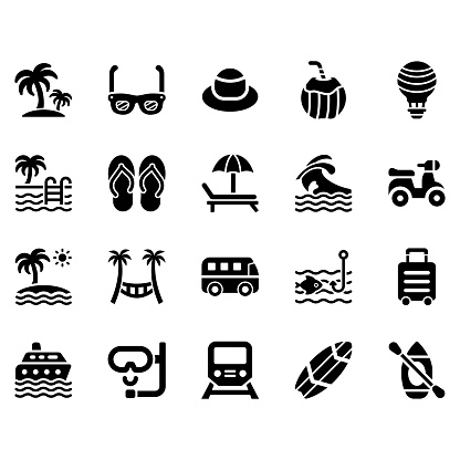 summer icon set 1 stock illustration download image now istock https www istockphoto com vector summer icon set 1 gm1184167761 333221303