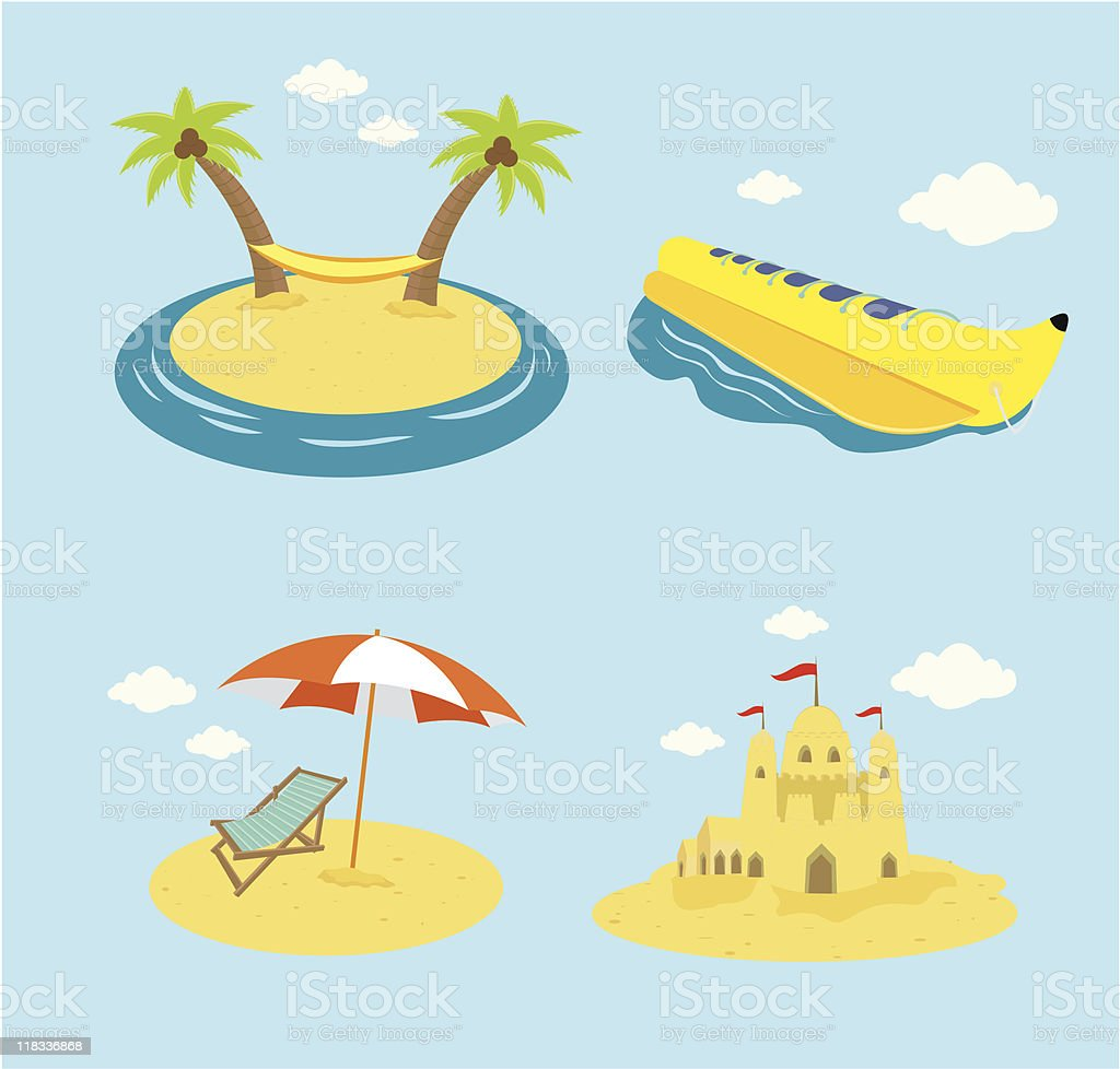 Summer Icon Set vector art illustration