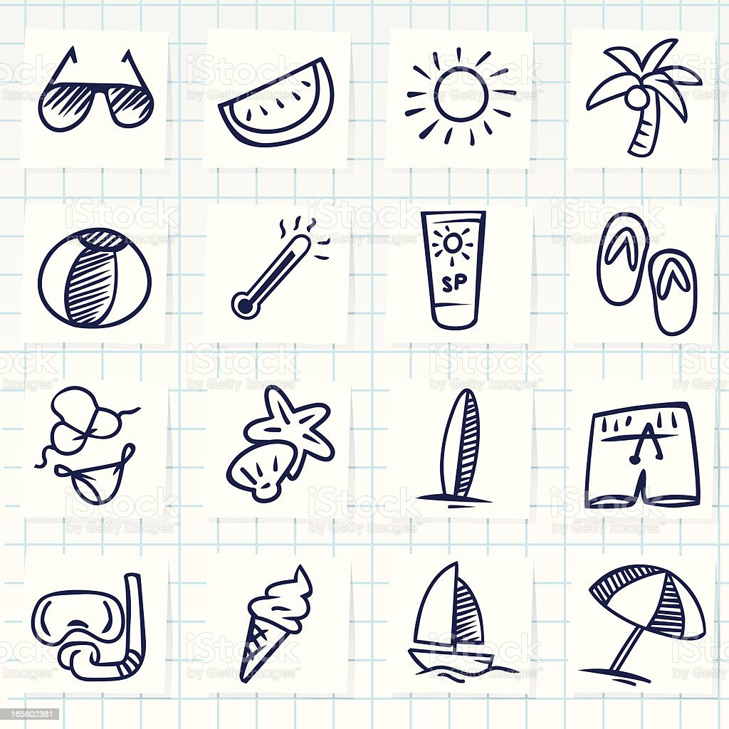 Summer Icon royalty-free summer icon stock vector art & more images of animal shell