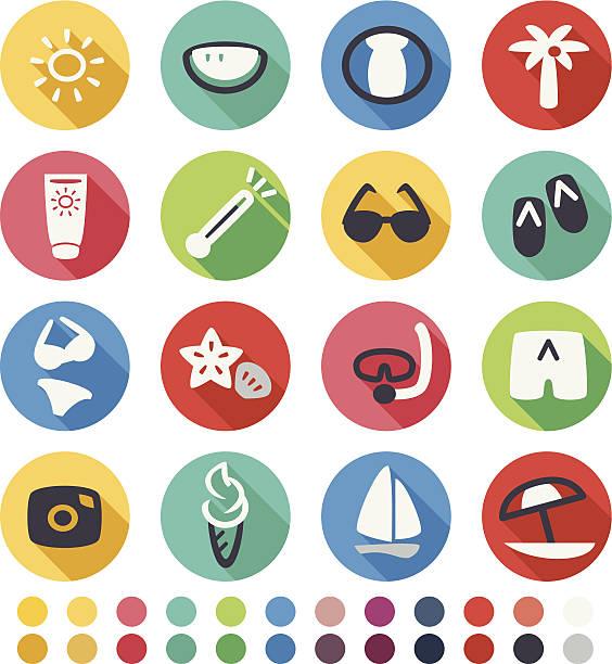 sommer-symbol - pastellhosen stock-grafiken, -clipart, -cartoons und -symbole