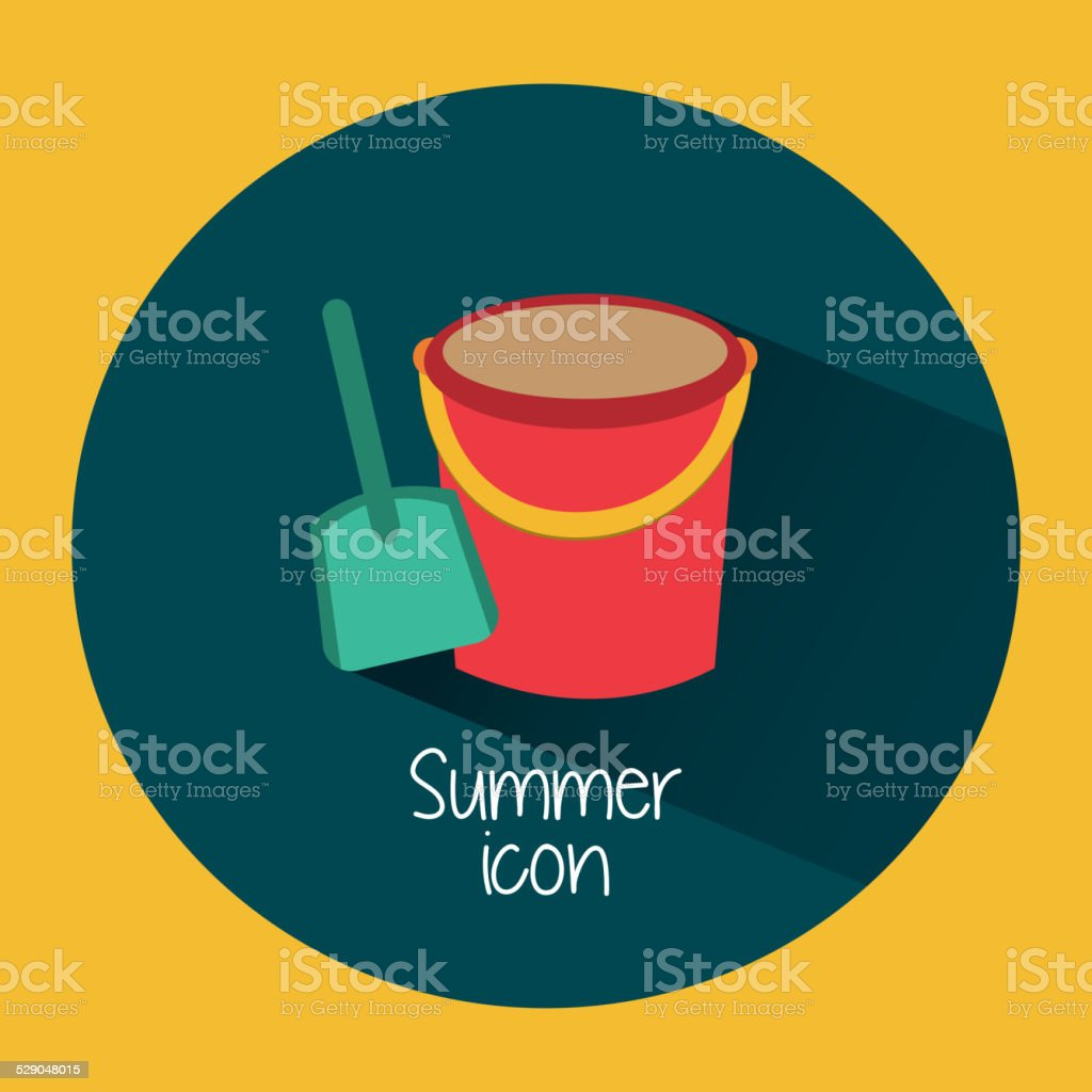 summer icon vector art illustration